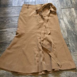 Eva mendes tan midi skirt